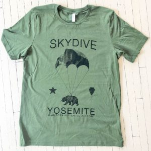 Skydive Yosemite Green Shirt